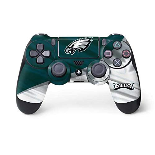Skinit Decal Gaming Skin for PS4 Controller - Officially Licensed NFL Philadelphia Eagles Design