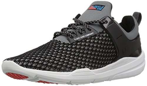 DVS Shoes Herren Cinch LT + Sneaker, Schwarz (Black Grey Knit), 44 EU