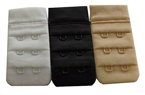 Naturana BH-Verlängerung 3er Set Farbe Weiss schwarz Puder 3cm
