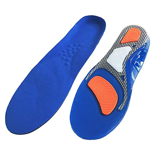 AJ Story Insoles for Men, Massage Gel Sport Insoles, Plantar Fasciitis Relief, Trim to Fit Any Shoes, Best Shock Absorption for Walking, Running, Hiking Men (7-11) Women (3-8)