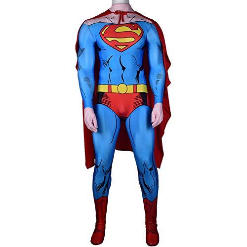 Ropa De Superman Cosplay, Traje De Batalla De SuperhéRoes para NiñOs Adultos, Hombres NiñO Halloween Navidad Disfraces Ropa Etapa Rendimiento Body
