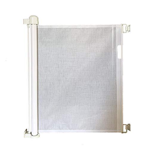 Luckxing Barrera de seguridad retráctil para escaleras, para bebés y dignidad, 0-130 cm, 80 cm de alto, extensible, barrera de seguridad para bebés