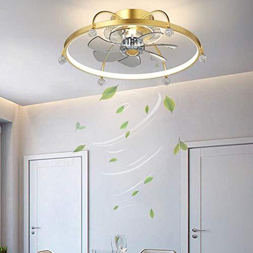 Ventilador de techo LED con control remoto Ventilador de techo silencioso con luz de techo regulable controlable a distancia ventilador dormitorio sala de estar lámpara de ventilador LED