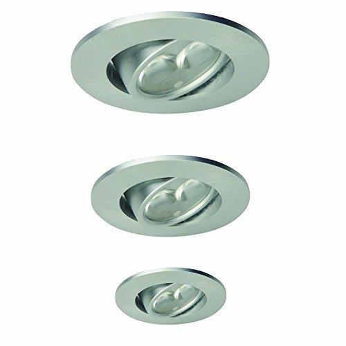 Light Topps Lot de 3 Spot LED encastrables, orientables, 3,5 W, 200 lm