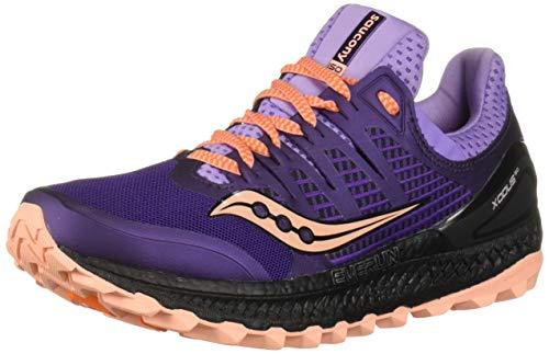 Saucony Xodus ISO 3, Zapatillas de Trail Running Mujer, Morado (Púrpura 37), 36 EU