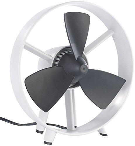 infactory leiser Ventilator: Tisch-Ventilator Streamline im Turbinen-Design, V2, 8