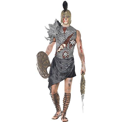 NET TOYS Gladiator Zombiekostüm Römischer Zombie Kostüm L 52/54 Gladiatoren Halloweenkostüm Antike Horror Römerkostüm Monster Römer Faschingskostüm Halloween Horrorkostüm Karneval Kostüme Herren