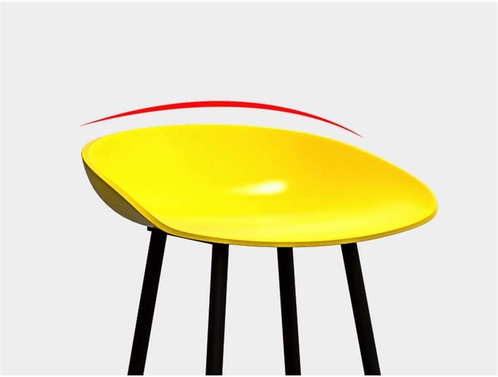 Iron Art Bar Chaise, Chaise De Bar À Manger Chaise De Chaise Créative Chaise Haute Dessert Boutique Café Café Tabouret 45 * 45 * 83CM (Couleur : Noir) Gray