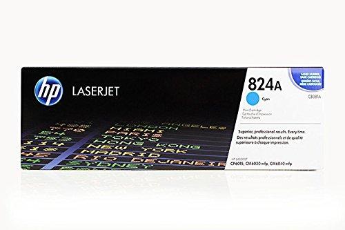 Hewlett-Packard CB381A / 824A - Cartucho de tinta original para impresora Color Laserjet cm 6040 X MFP (21.000 páginas), color cian