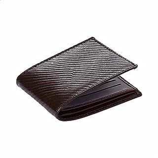 محفظة جلد منقوش بطبقتين للرجال من جرينتا
