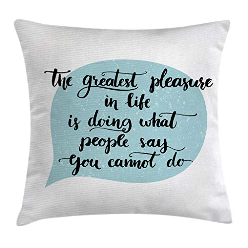 Nixboser - Federa per cuscino con scritta 'Greatest Things in Life', in poliestere, motivo: scritta in a discorso, baloon Art, per divano e camera da letto, 45 x 45 cm