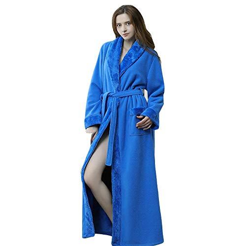 TaoRan Badjas voor dames, paar, pyjama's, herfst en winter, flanel, naaien, nachthemd, lang, uniseks