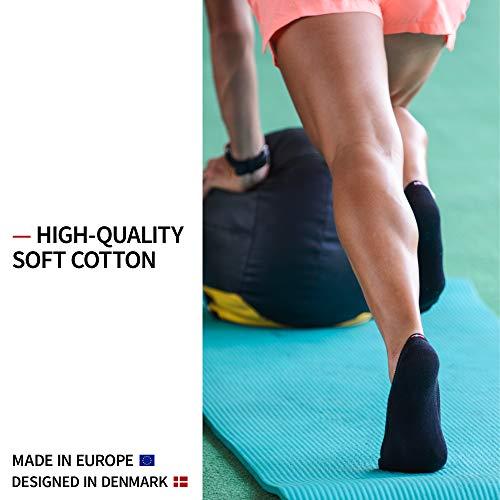No Show Socks 6 Pack, for Men & Women, Sneakers & Loafers, Non Slip, Invisible (Black, UK 9-12 // EU 43-47)
