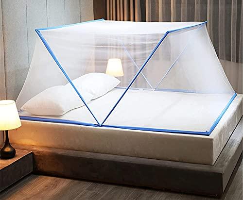 zxianc Mosquitera plegable para cama de matrimonio, portátil, para tienda de campaña...