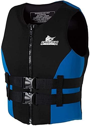 縦断勾配 Chaleco Salvavidas para Adultos Chalecos Salvavidas Chaleco de flotabilidad Ajustable Ayuda para Nadar Esnórquel Flotación Chaqueta de Seguridad Natación Chaleco Salvavidas(Color:Blue;Size:XXXL)