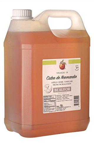 5 Litres de vinaigre de Cidre de Normandie - Made In France - Idéal pour la salade et en soins