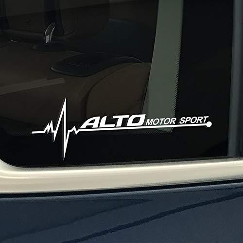 TAYDMEO 2 PCS Autocollants De Voiture Fenêtre Latérale PVC Decal, pour Suzuki Swift SX4 Jimny Ignis Alto Baleno Grand Vitara