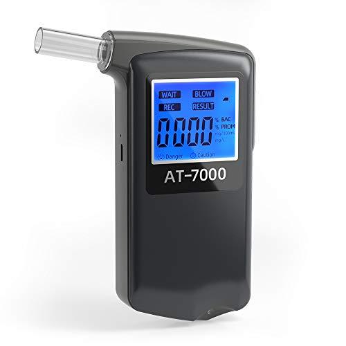 Ciaoed Recargable Alcoholimetro【Actualizado en 2020】Precisión de Grado Profesional Resultado BAC Probador de Alcohol Portátil Profesional Alcoholímetro Para Uso Personal y Profesional 10 Boquillas