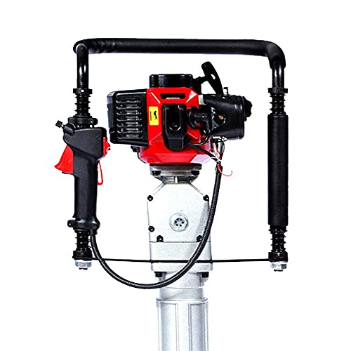 T Post Driver, Gas Powered T Post Driver, 52CC 2-Stroke Gas Post Driver Pile Push Fence with 2 Post Driving Head,T Post, Post Driver Manual Portable US Stock