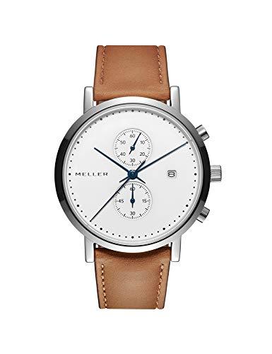 Meller Unisex Erwachsene Analog Quarz Uhr mit Edelstahl Armband 4NN-2BLACK