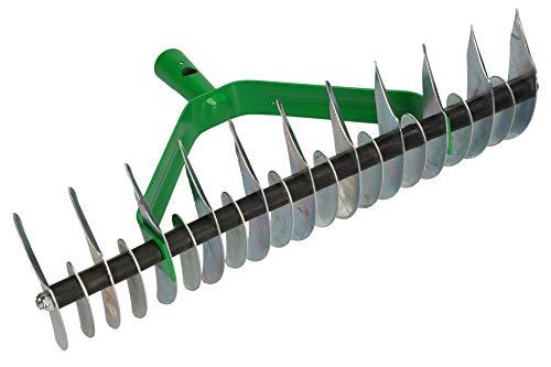 KOTARBAU® Schneidrechen 360 x 130 mm Rasenlüfter Kultivator Rasenbelüfter Rechen Handvertikutierer zur Beseitigung von Moos und Rasenfilz