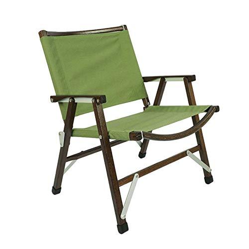 Silla plegable para exteriores, portátil, desmontable de haya, con bolsa de almacenamiento, para camping, jardín, senderismo, picnic, verde
