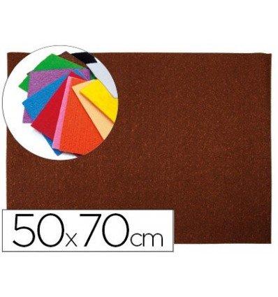 Liderpapel - Goma eva 50x70cm 60g/m2 espesor 2mm textura toalla marron (10 unidades)