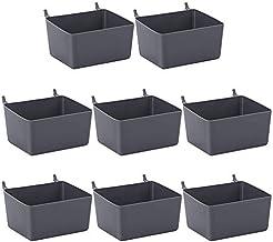 Fhdpeebu 8-delige Pegboard Bins Kit Pegboard Parts Opslag Pegboard Accessoires Workbench Bins voor het organiseren van har...