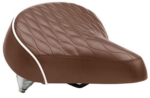 Schwinn Unisex's Spring Comfort Bike Seat, Quilted, Wide Saddle, Brown