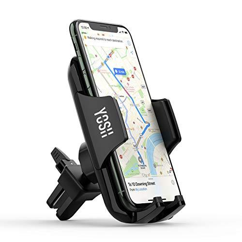 YOSH Handyhalterung Auto Lüftung Handyhalter fürs Auto KFZ Handyhalterung Handyhalter 4,7-6,9 Zoll Universal für iPhone 11 Pro X 8 7 Samsung S10 S9 S8 Note 9 8 Huawei P30 Pro Mate GPS-Geräte usw.