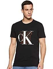 Calvin Klein CK Graphic Slim Stretch tee Camisa para Hombre Black