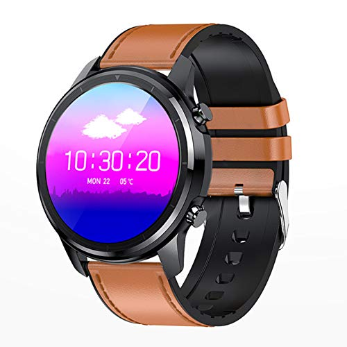 Bluetooth 5.0 Smart Watch 1.3 Pulgadas 360 * 360 HD AMOLED Pantalla Abajo Abajo A Prueba De Agua Ratón Cardíaco para Hombres Y Presión Arterial,A