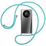 mtb more energy® Collar Smartphone para Huawei Mate 40 Pro Plus (6.67'') - Turquesa - Funda Protectora ponible - Carcasa Anti Shock con Cuerda Correa