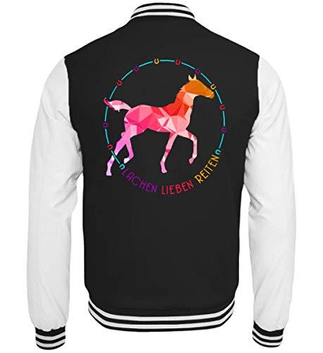 Chorchester paard ruiters lachen liefde paardrijden - college sweatjack