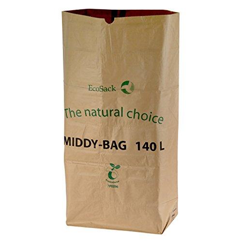 All-Green 140 Liter (140L) kompostierbare Papiermüllsäcke, 10 Müllsäcke