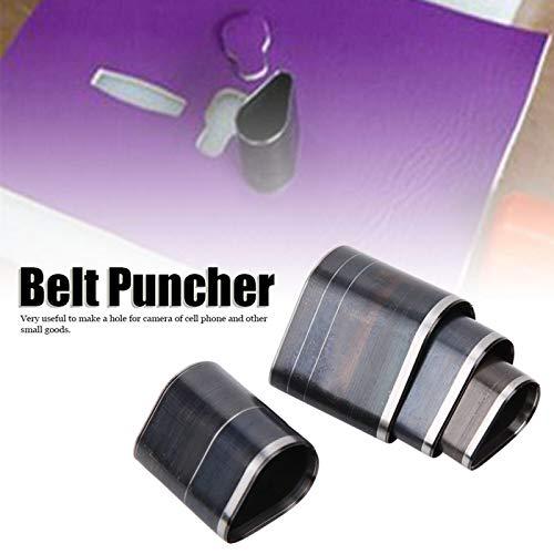 Juego de perforadores de cuero, conveniente, fácil de usar, práctico, fácil de operar, perforador de cinturón duradero, para la cámara del teléfono celular