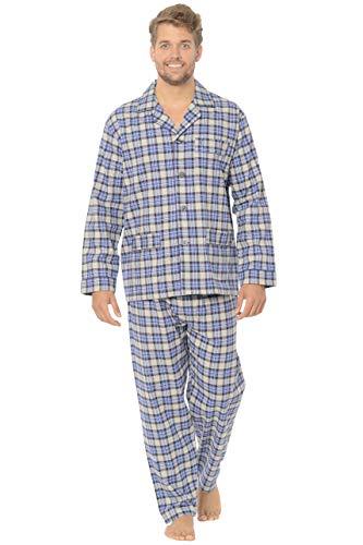 El Búho Nocturno Pijama de Caballero de Manga Larga y