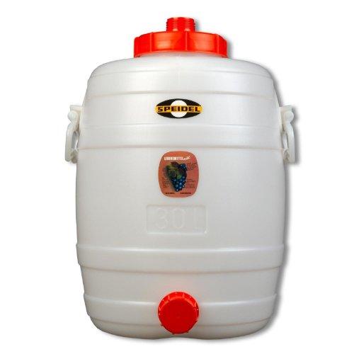 Speidel Fass Getränkefass Mostfass 30L lebensmittelecht rund mit Zubehör