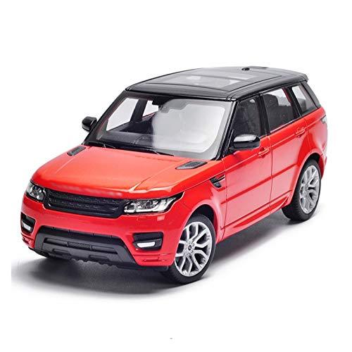 YYQIANG Simulación Versión deportiva de aleación Modelo de automóvil Modelo 1:24 Simulación Off-Road Modelo de vehículo Adornos delantero La rueda delantera puede ser orientable El coche de juguete pa