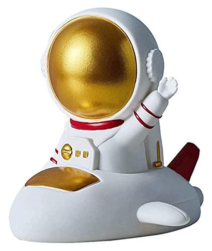 Chtom Hucha de astronauta personalizada, banco de divisas, el mejor regalo de cumpleaños de vacaciones, decoraciones para el hogar para niños (color: C Gold) (color: C Gold) (Color: C Gold)