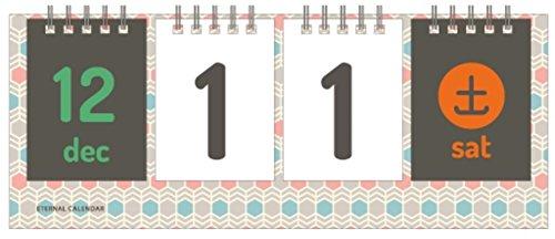 Bookfriends Wirebound flip per calendario da scrivania perpetuo e calendario da scrivania D-Day Alveare