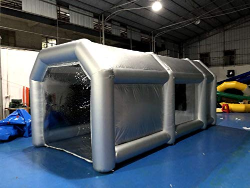 Aurora Inflatable Paint Booth 20×10×8Ft with Blower Inflatable Spray Booth Portable Car Painting Booth Tent for Car Garage Upgrade More Durable with Air Filter System Environment Friendly(6mx3mx2.5m)