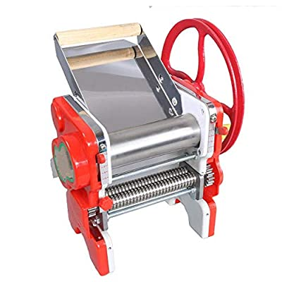 Stainless Steel Noodle Machine Settings For Fresh Fettuccine Roller Noodle Making Machine Sturdy Homemade Pasta Maker All In One 5 Thickness Tagliatelle Maker (Color : Silver, Size : Free size) MZX