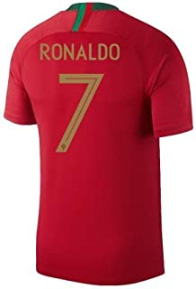 ProApparels Official Ronaldo Jersey Portugal Home 2018 with UEFA Champions Badge (Official Jersey) (XL)