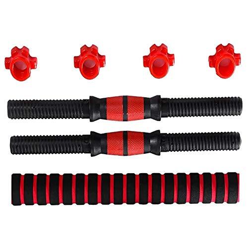 chenxiaspindes Juego de mancuernas para levantamiento de pesas, para entrenamiento, culturismo, entrenamiento, color rojo, 2 paquetes