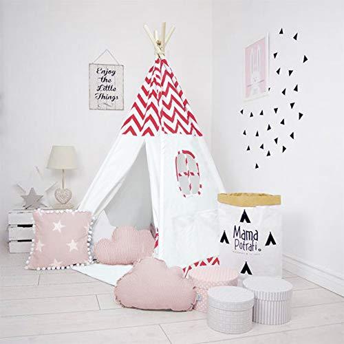 Tiendas infantiles BeigKids Tipi interior y exterior juego, los niños tiendas el juego sin Mat, ideal for juegos Dormitorio Nursery fotografía apoya, año nuevo regalo de cumpleaños, fácil de montar, 4