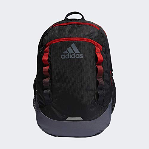 adidas Unisex Excel Backpack, Black/Active Red/Onix, ONE SIZE
