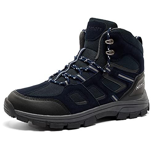 Scarpe Trekking Uomo Stivali da Escursionismo Basse Scarponi Montagna Sportiva Sneakers All'Aperto Leggere Traspiranti Blu 43 EU