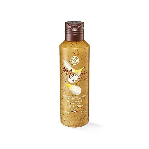 Yves Rocher Monoï Körperpeeling-Öl strahlende Bräune, Exotische Pflege für Ihre Haut, 1 x Flacon 150 ml