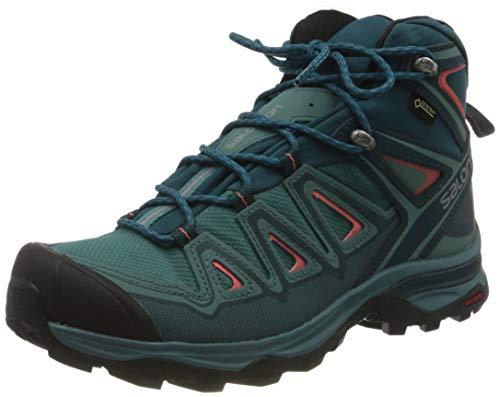 SALOMON Damen X Ultra 3 MID GTX Trekking-& Wanderstiefel, Blau (Hydro-Reflecting Pond-Dubarry 000), 40 2/3 EU